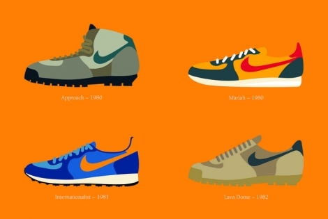 Nike Decades Sneaker Illustrations
