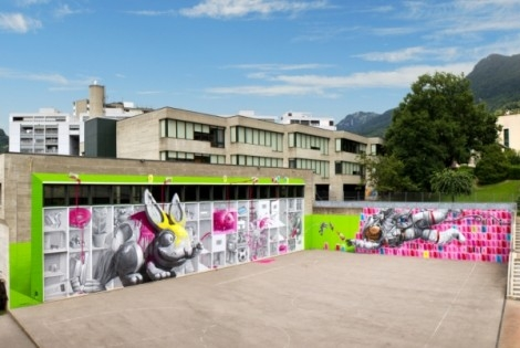NEVERCREW'S magical murals grace Swiss school