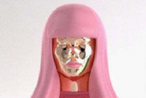 Nicki Minaj Shows Off New Perfume Bottle
