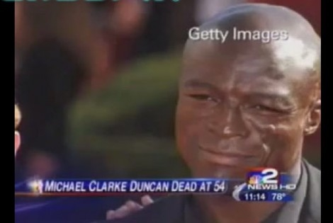 Buffalo TV station apologizes for using Seal picture to report Michael Clarke Duncan's death