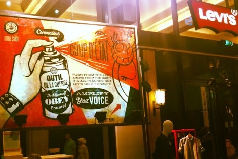 SHEPARD FAIREY & ANDRE HAD A TALK AT LEVIS PARIS…