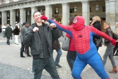Times Square Spider-Man punches a mom, Big Bird disappointed