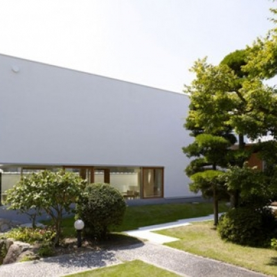 Contemporary Home in Japan Integrating Real Trees in The Structure
