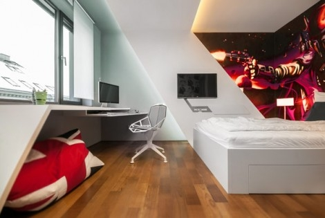 Inspiring Bedrooms for Boy and Girl in Modern Slovakian Crib