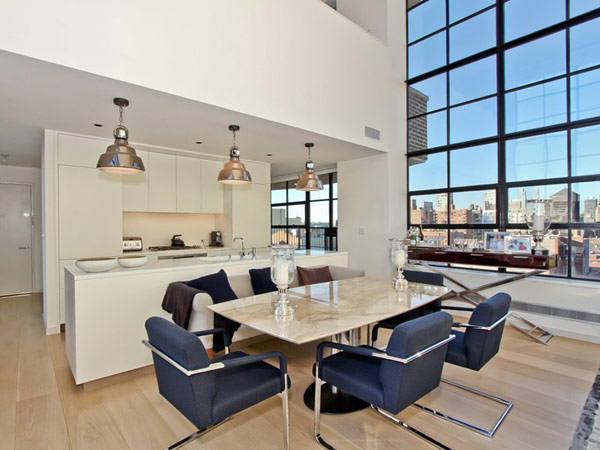contemporary penthouse New York 4 Spectacular Duplex Penthouse in New York Defying the Urban Racket