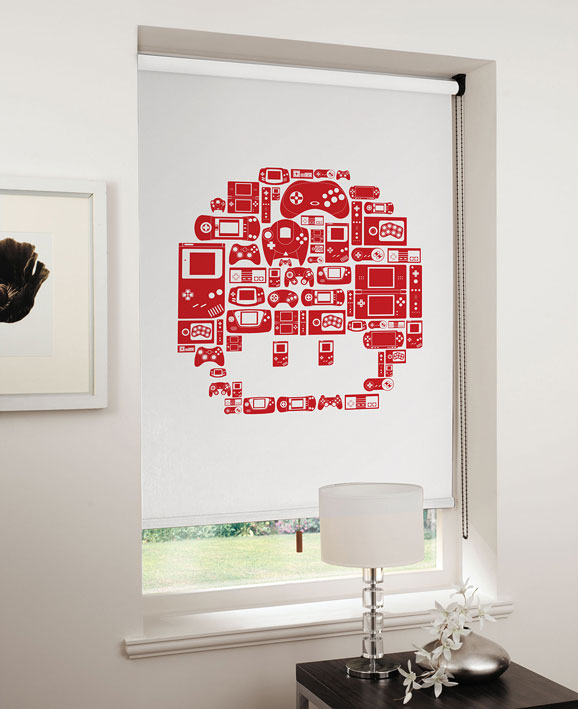 lifestyle mushroom red on white Game On: Relive the 8 bit era with designer blinds