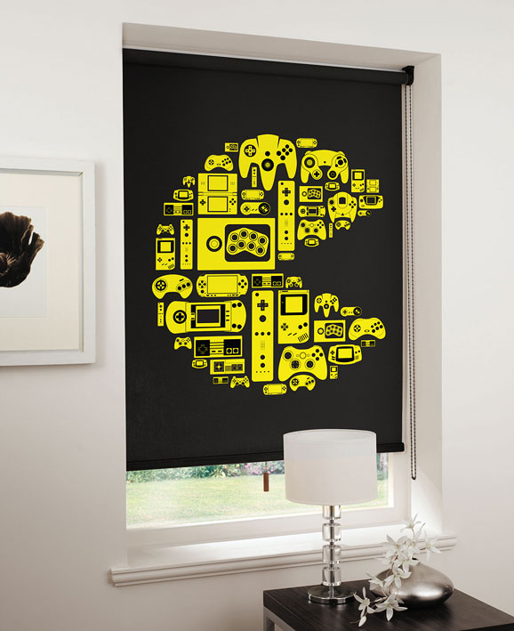 lifestyle pacman yellow on black Game On: Relive the 8 bit era with designer blinds