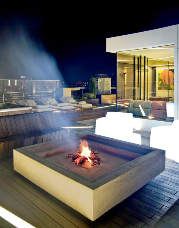 Decking Fire Pit Desing 608 Fascinating Mix of Materials and Textures Showcased by Industrial Loft in Kiev