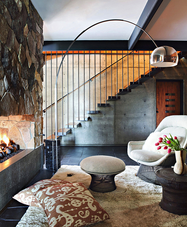 Fireplace Gorgeous Sense of Style: Luxury Mansion in L.A.