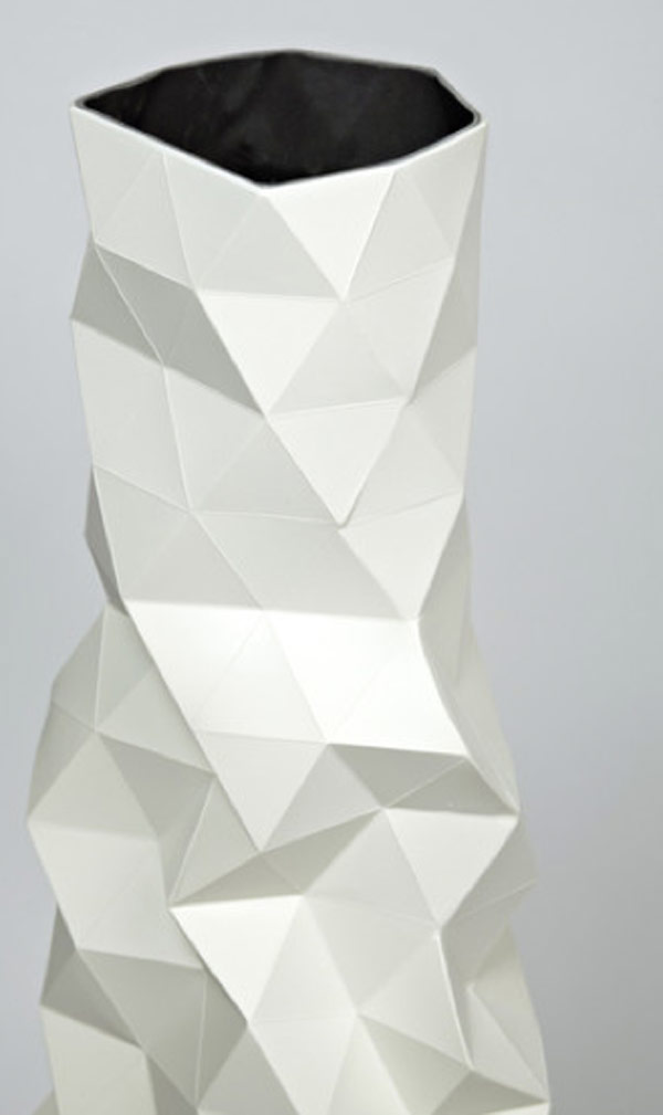 Faceture Vase design white Elegant Handmade FACETURE Vase by Phil Cuttance