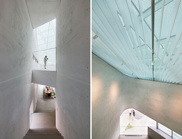 Interior Details1 Steel Contemporary Shaped Art Centre in South Korea