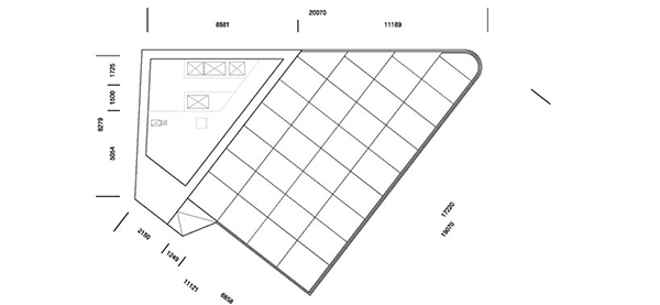 Floor Plan Level One1 Steel Contemporary Shaped Art Centre in South Korea