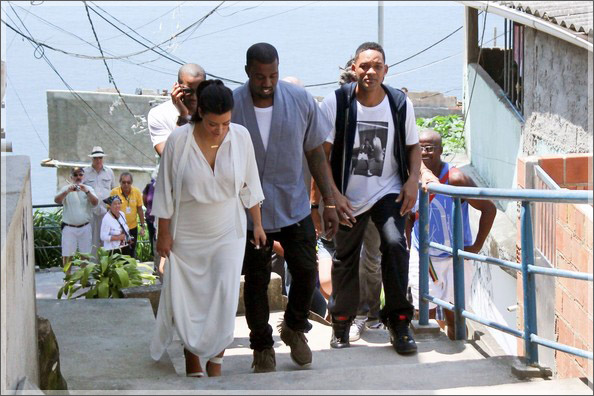 Will Smith Duane Martin Kim Kardashian Kanye West in Brazil