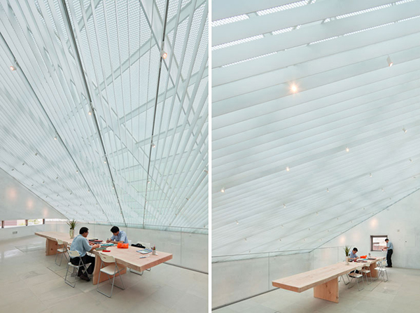 Songwon Table1 Steel Contemporary Shaped Art Centre in South Korea