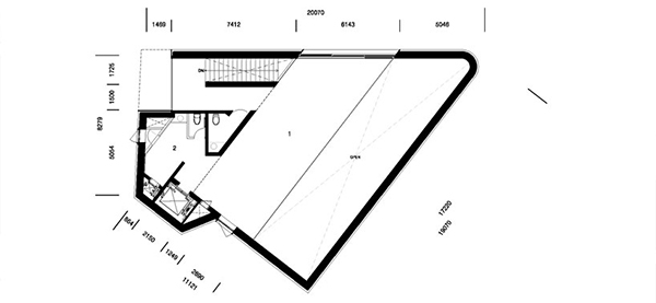 Floor Plan Level Zero1 Steel Contemporary Shaped Art Centre in South Korea