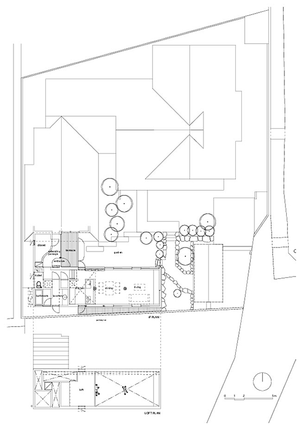 House Plan7 Contemporary Home in Japan Integrating Real Trees in The Structure