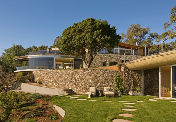Coastlands House exterior design Sustainable Home for Retired Couple in Big Sur, California: Coastlands House