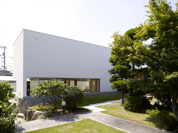 House Integrating Trees Contemporary Home in Japan Integrating Real Trees in The Structure
