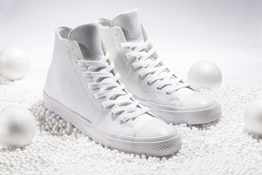 12cd00afd8fb The Converse Chuck Taylor All Star x Nike Flyknit Goes All-White